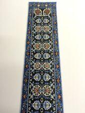 Turkish Stair Carpet Blue Design, Dolls House Miniature 1.12 Scale Carpets