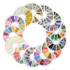 20pcs/set DIY Manicure Rhinestone Acrylic 3d Nail Art Tips Decoration Wheel Tool