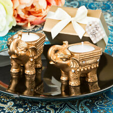 Gold Good luck Indian Elephant Candle Holders Pack of 10
