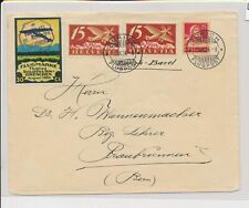 LM74324 Switzerland 1924 to Bern airmail nice cover with good cancels used