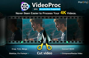 VideoProc 4K 8K video editor downloader v4.1 2021 License key Windows
