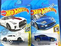 Hot Wheels - Lot of 2 - TURBO - Nissan 300ZX & '17 GT-R R35 White - B1