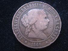"""MDS SPANIEN 5 CENTIMOS DE ESCUDO 1866 """"ISABEL II."""""""
