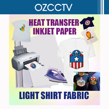 A4 20sheets Iron Heat Transfer Paper For The Light Cotton Shirt AU