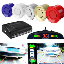 8 Parking Sensor Car Reverse Backup Rear Radar System Kit LED Sound Alert Alarm