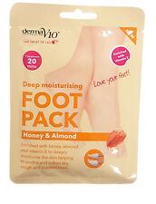 Derma V10 Deep Moisturising Foot Pack Honey Almond