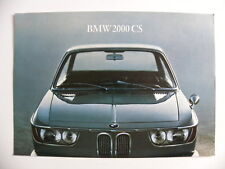Brochure 1 feuille BMW 2000 CS de 03 / 1966 en allemand