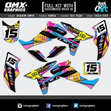 Honda TRX 450 R ATV Quad graphics decals stickers kit 2004 - 2014 SH CMYK