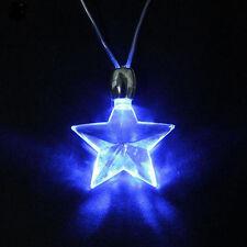 Blue Star LED Light Magnetic Necklace Unisex