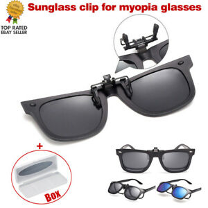 Clip-On Polarized Sunglasses UV400 Driving Glasses Day/Night Vision Shade Lens