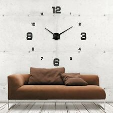 Wanduhr Uhr 3D Wandtattoo Deko Design Spiegel Edelstahl Wand Uhr Groß XXL XL C23