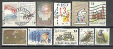 R6508 - BELGIO 1989 - LOTTO 10 TEMATICI DIFFERENTI - VEDI FOTO