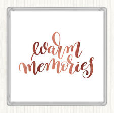 Rose Gold Memories Quote Drinks Mat Coaster