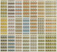 43 x USA Railroad Stamp Sheets (2,000 Stamps) Train/Locomotive/Railway WHOLESALE