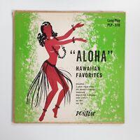 "Aloha Hawaiian Favorites 10"" Shellac Record LP 33rpm Exotica Tiki Bar VTG 1951"