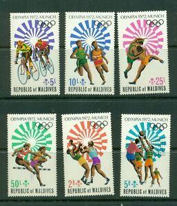 Maldive Islands  #405-08 (1972 Olympics set) VFMNH CV $5.80