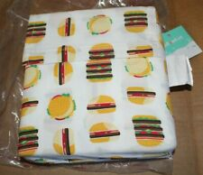 Pillowfort Hamburger Printed Cotton Crib Sheet Set Toddler New In Package