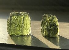 CHLUM Moldavite Set of Two • Great Luster & Color • 7gm/35ct • High Quality!