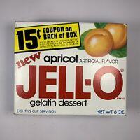 Vintage Jello Apricot Gelatin Dessert 6 oz Box 1970s Prop Coupon Unopened New