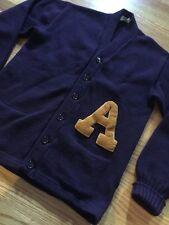 Vintage 50s IMPERIAL KNITWEAR Wool Cardigan Varsity Letterman Sweater. Size 44