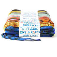 ROUND ROPE SHOE LACES WITH STRIPE FOR BOOTS TRAINERS HIKING WALKING STRONG CORD