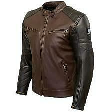 MERLIN CHASE LEATHER MOTORCYCLE JACKET BLACK BROWN NEW