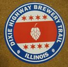 Dixie Highway Brewery Trail Illinois Sticker Beer Logo Advertising NEW