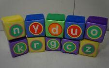 """Lot 10 Lakeshore Learning Foam Alphabet Soft Letter Toddler Baby Blocks 3""""x 3"""""""