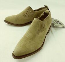 Frye Billy Womens Boots Low Ankle 197085 US 5.5 B tan Suede Slip-on Western 2193
