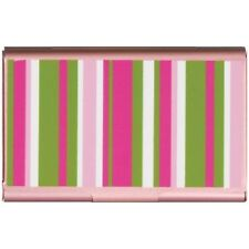 #2405 Business Card/Gift Card/Credit Card/Money Case-Wellspring Pink Stripe
