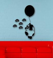Wall Stickers Vinyl Decal Funny Bear with Balloons for Children's Room (ig587)
