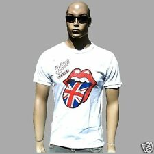 AMPLIFIED ROLLING STONES UK Union Jack Flagge Zunge Vintage Print T-Shirt XL/XXL