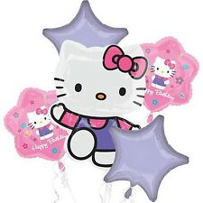 Hello Kitty 5 Birthday Mylar Bouquet Balloons Party Decoration Set
