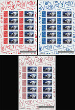 "Set Sheetlets Perso stamps ""Marianne / Airbus A380 - 1st Early Long Flight"" 2006"