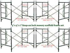 A set Four Brand New Snap-On 5' X 5' X 7' Masonry Scaffolding Frame Sets CBM