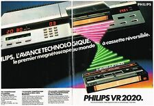PUBLICITE ADVERSTISING   1981   PHILIPS  magnétoscope VR 2020  (2 pages)