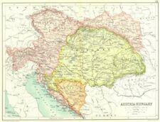 AUSTRIA-HUNGARY. Bosnia Dalmatia Bohemia Galicia Tyrol Moravia Styria 1909 map