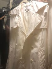 womens H&M M by Madonna ivory trench coat size 8