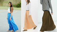 *ZARA*Khaki/Peach Elastic Waist Long Maxi Skirt XS-M Popular Casual Formal