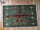 •265• Beautifully Handmade Genuine Afghan Drone War Rug, 100x66 cm