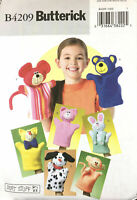 Butterick B4209 Crafts Hand Puppets Uncut Pattern Birthday School Church Party