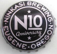 N10 ANNIVERSARY Beer CROWN, Bottle CAP w/ STARS, Ninkasi Brewing, Eugene, OREGON