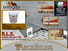 ARCKSTONE RLS RAIMONDI LEVELLING SYSTEM KIT: 100 Keile 100 Basen 1 Klammer Boden