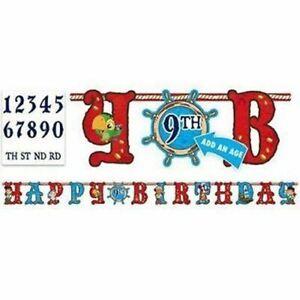 Disney Jake Neverland Pirates Add an Age Happy Birthday Jumbo Letter Banner Kit