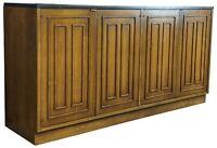 Broyhill Sculptra Walnut Slate Mid Century Modern Buffet Sideboard Credenza MCM