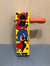 Vintage Life of the Party Noise Maker Tin Paddle Style Dancer USA