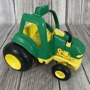 Vintage 1992 Tonka Tractor Green Yellow Plastic Play Toy Farm Vehicle John Deere