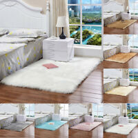 Fluffy Fur Sheepskin Rugs Soft  Floor Carpet Living Room Bedroom Home Decor Mats