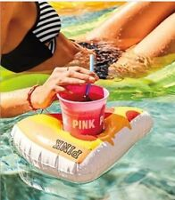Victoria's Secret PINK Pizza floatie and Pink Party Cup. NEW Cute
