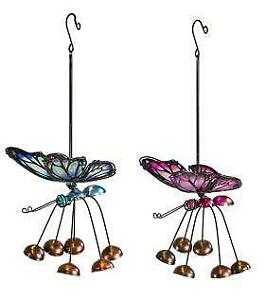 Fountasia ASSORTED Blue OR Pink Butterfly Hanging Indoor/Outdoor Decoration